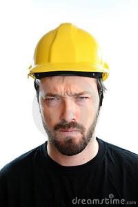trabajador enojado